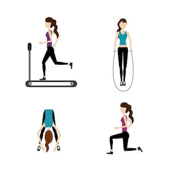 Mulher estilo de vida saudável para fazer exercício
