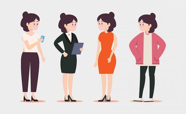 Mulher, estilo vida, dela, roupas