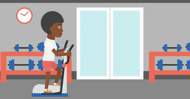 Mulher fazendo exercícios.