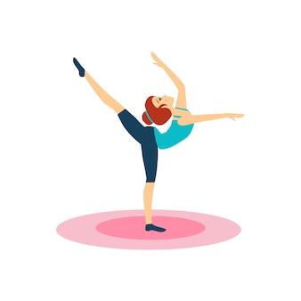 Mulher fazendo ginástica.