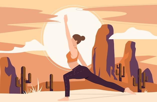 Mulher fazendo ioga ao ar livre