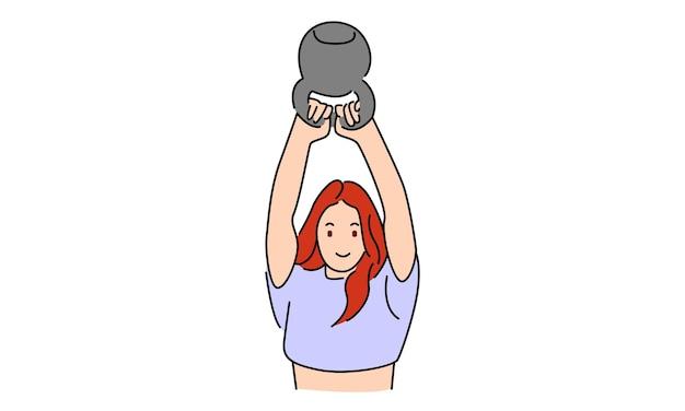 Mulher fitness em treinamento