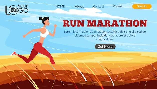 Mulher forte e atlética velocista correndo ao ar livre