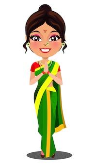 Mulher indiana de maharashtra