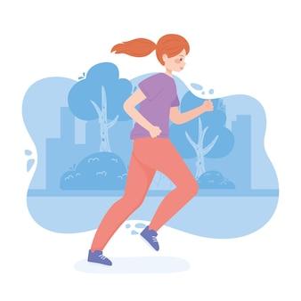 Mulher jovem correndo