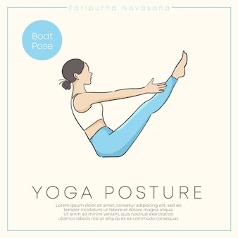 Mulher jovem e saudável praticando ioga em roupa pastel.