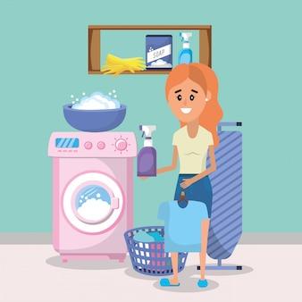 Mulher, lavanderia