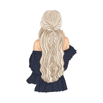 Mulher loira com lindo penteado