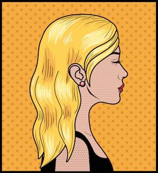 Mulher loira estilo pop art