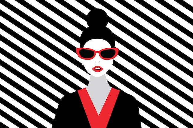 Mulher moda estilo