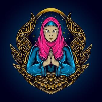 Mulher muçulmana para o ramadã