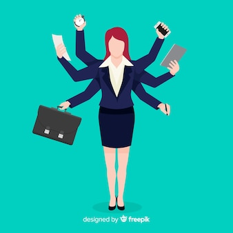 Mulher multitarefa