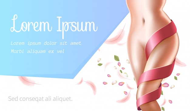 Mulher perfeita magro corpo saudável, remoção spa salon