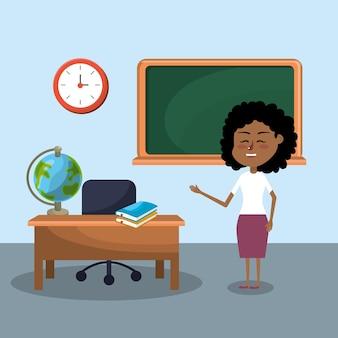 Mulher professora e educação criativa para aprender