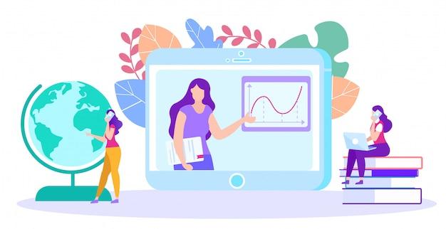 Mulher professora realiza treinamento on-line