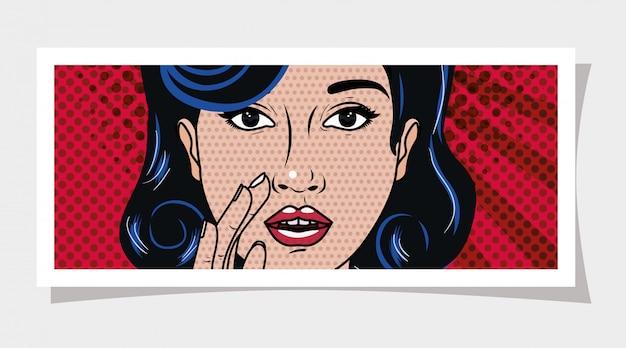 Mulher retrô e pop art