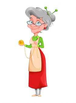 Mulher velha sorridente fofa. feliz dia dos avós