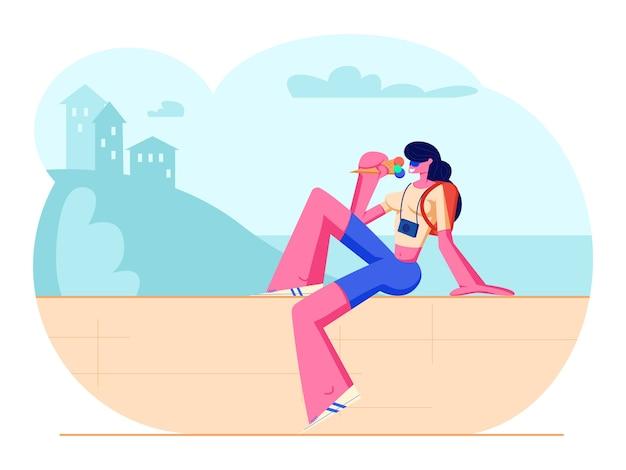 Mulher viajando nas férias de verão