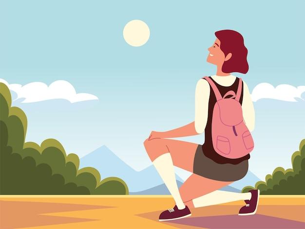 Mulher viajante aventura