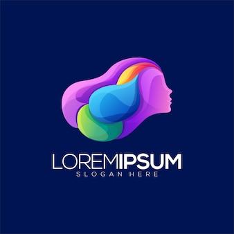 Mulheres abstratas splater colorfull premium logo