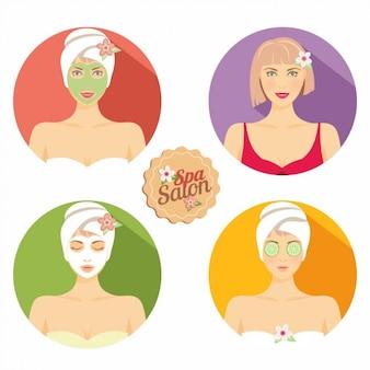 Mulheres beleza cuidados com a pele