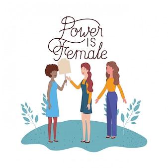 Mulheres com poder de rótulo é personagem feminina