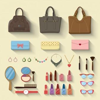 Mulheres complementos de moda