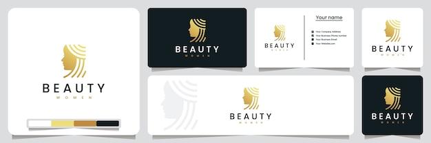 Mulheres de beleza, salões de beleza e spa, inspiração para design de logotipo