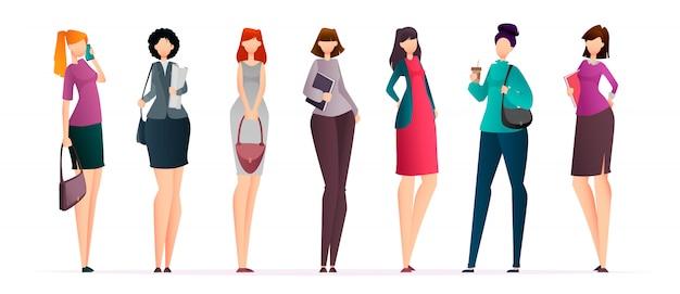 Mulheres de negócios bem sucedidos, conjunto