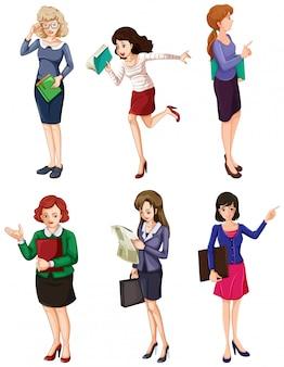 Mulheres de negócios diferentes