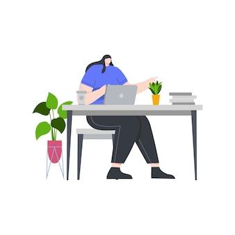 Mulheres de negócios trabalham ilustração do conceito para landing page