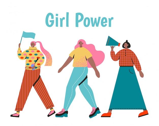 Mulheres elegantes vestidas com roupas da moda. conceito de poder feminino