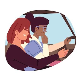 Mulheres em um carro