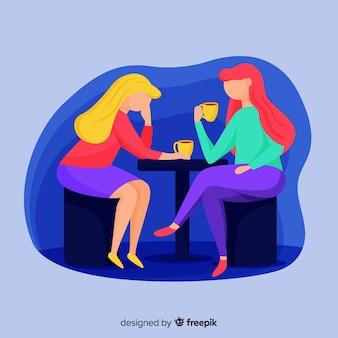 Mulheres, falando
