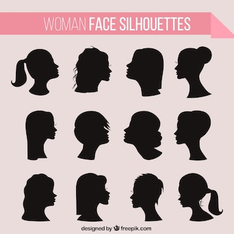 Mulheres haistyle silhuetas
