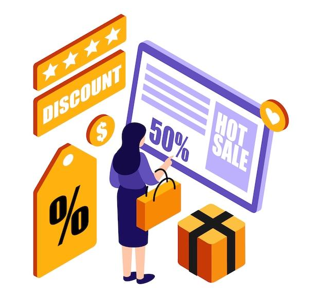 Mulheres isométricas, compras on-line