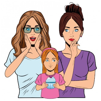 Mulheres jovens, e, menininha