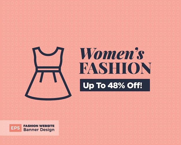 Mulheres moda oferta banner design