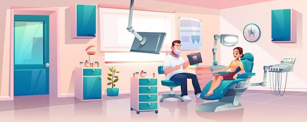 Mulheres na consulta na clínica dentista