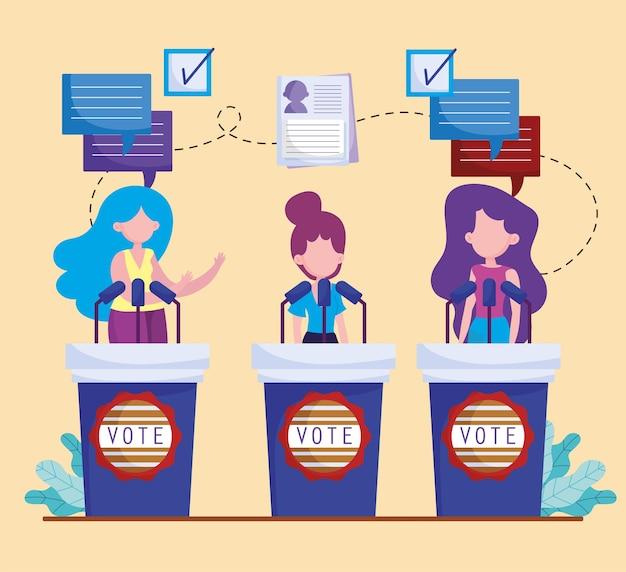 Mulheres políticas estão discutindo