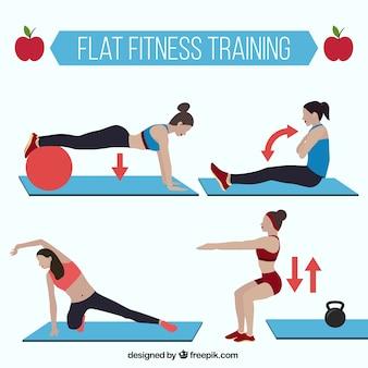 Mulheres que fazem exercícios de pilates