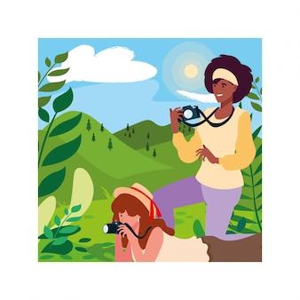 Mulheres tirando foto
