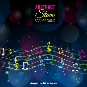 Multicolor abstract stave