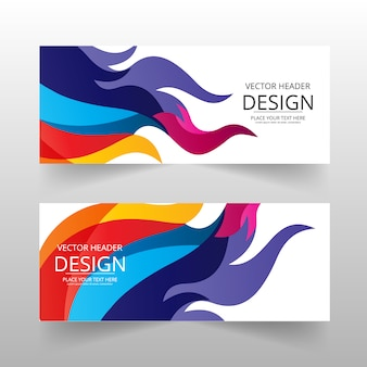 Multicolor abtract banner