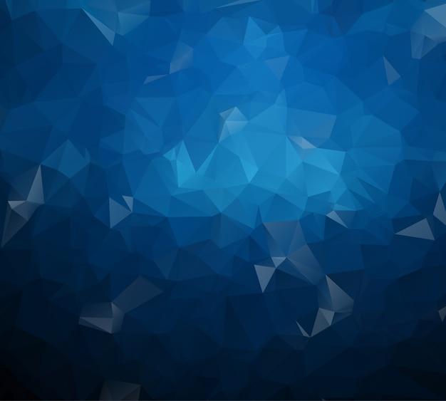 Multicolor azul escuro geométrica amarrotada design triangular