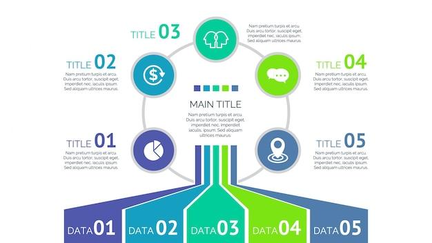 Multicolor design infográfico