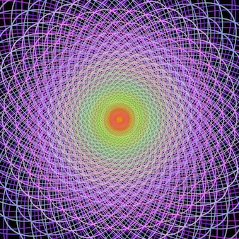 Multicolor fundo do fractal