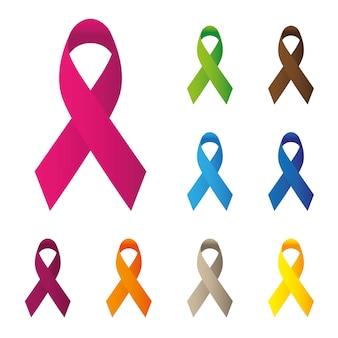 Multicolor ribbons design