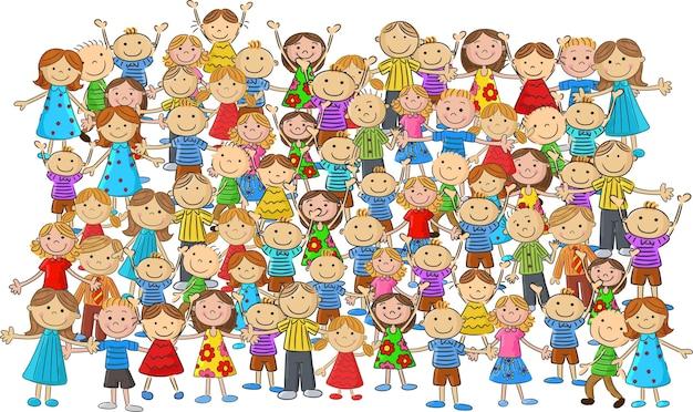 Multidão de crianças