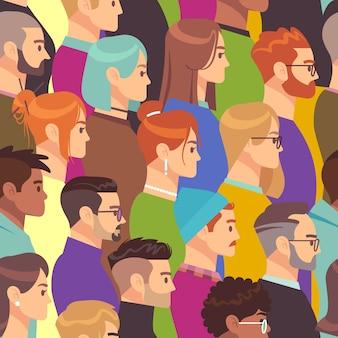 Multidão padrão sem emenda